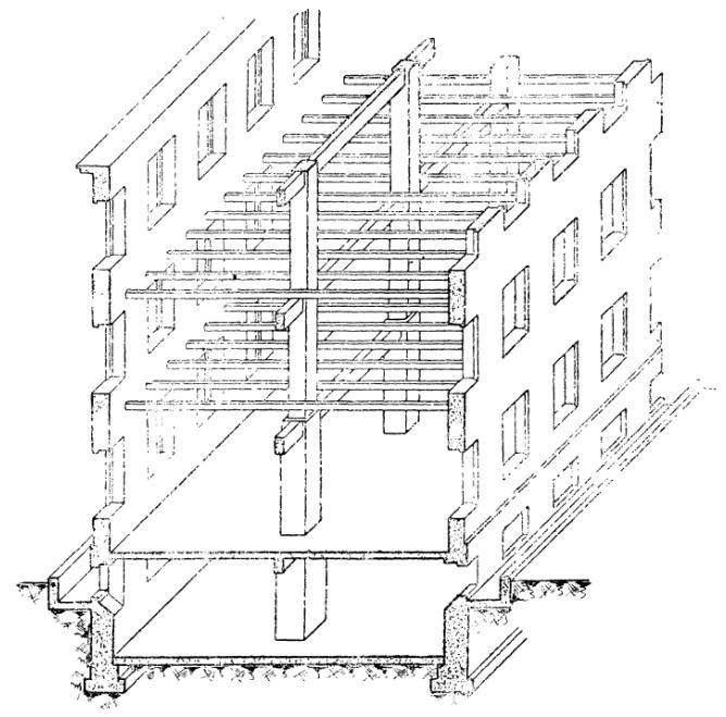 Трехэтажное здание с